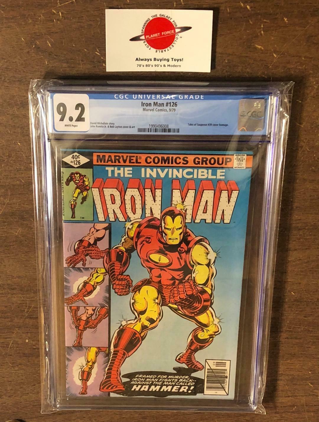Iron Man #126 CGC 9.2 Marvel Comics 1979 Romita Layton