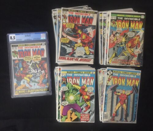 Complete Full Run Iron Man #51-100 w/ 55 CGC 8.5 1st App Thanos Drax High Grade