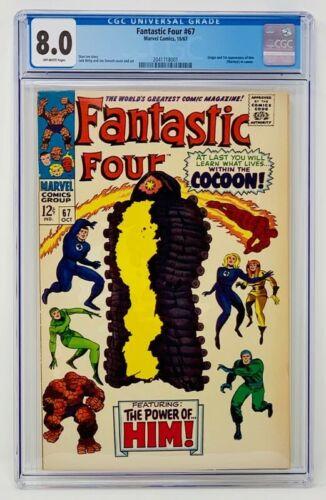 Fantastic Four #67 CGC 8.0 Marvel Comics 1967. First app of Him (Adam Warlock)