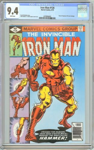 Iron Man #126 CGC 9.4 White Pages (1979) 2078996005