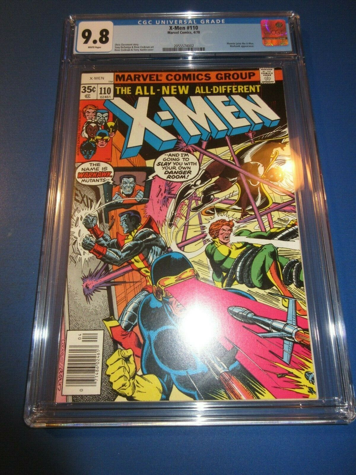 Uncanny X-men #110  Bronze age 1st Mr. Sinister/Warhawk CGC 9.8 NM/M Gem