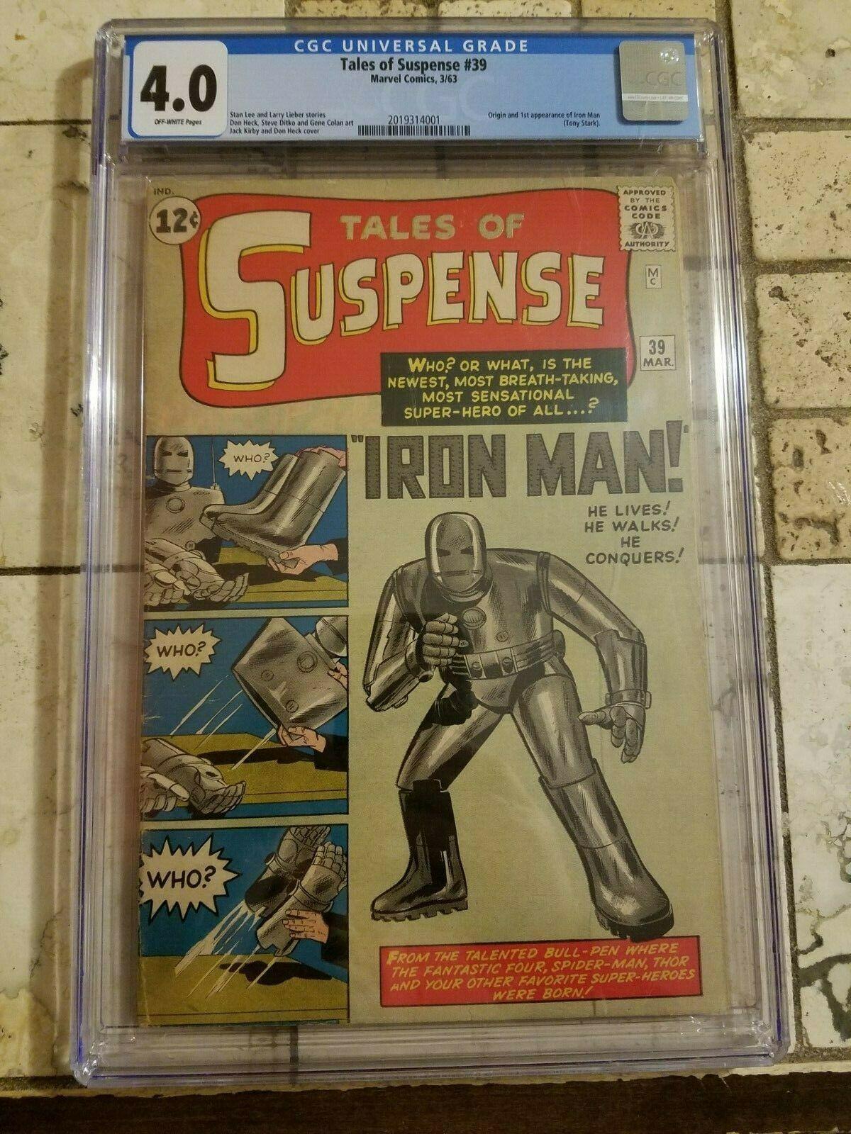 Tales of Suspense #39 CGC 4.0 ow 1st appearance & origin KEY MARVEL COMIC