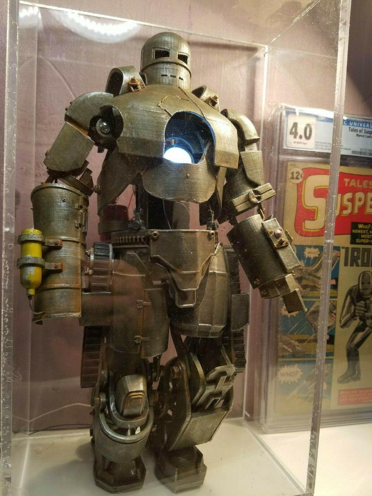 XL Iron Man Mark I large figurine Marvel AMAZING 97 pieces w/ 120 fasteners