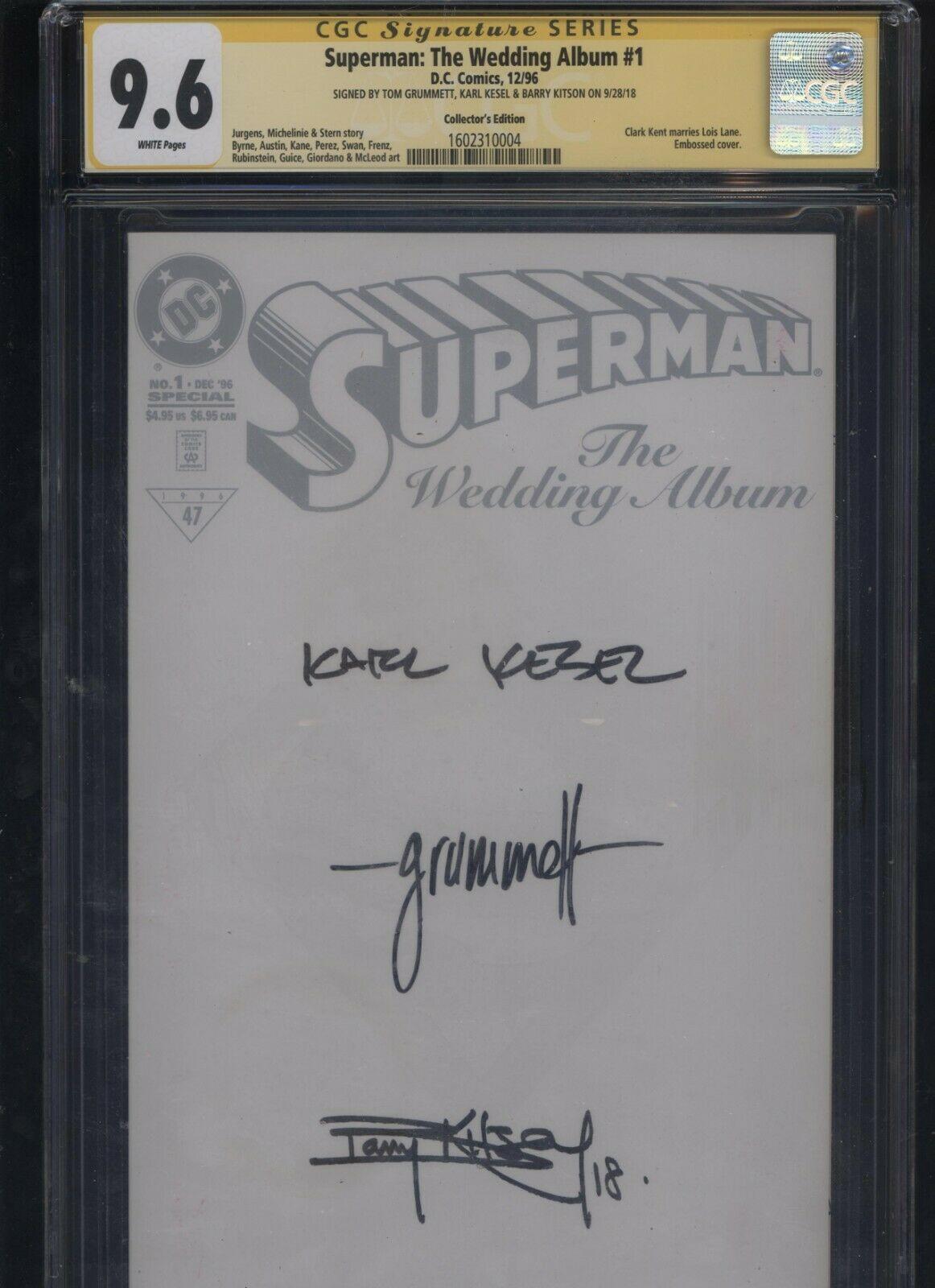 Superman: The Wedding Album #1 CGC 9.8 3x SS Kesel + Grummett + Kitson