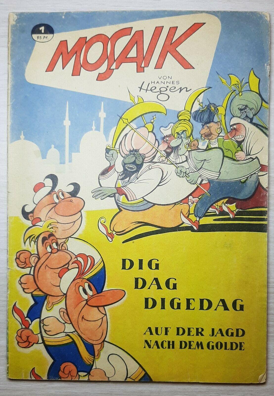 Sammlung Original Mosaik Digedags Nr. 1-35 von Hannes Hegen + 3 Beilagen