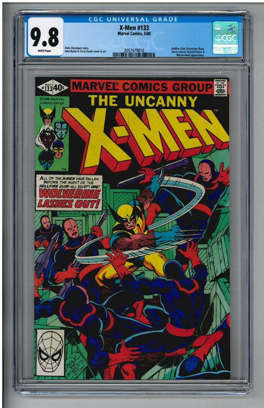 UNCANNY X-MEN 133 CGC 9.8 NM/MT WHITE PAGES 1st Solo WOLVERINE 5/1980 GPA=$475