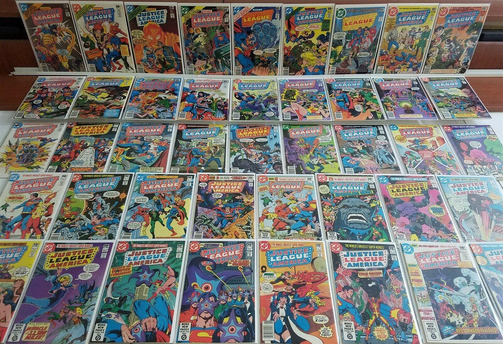 Justice League of America #152-194 Full Run Lot Superman Batman Avg NM HI GRADE