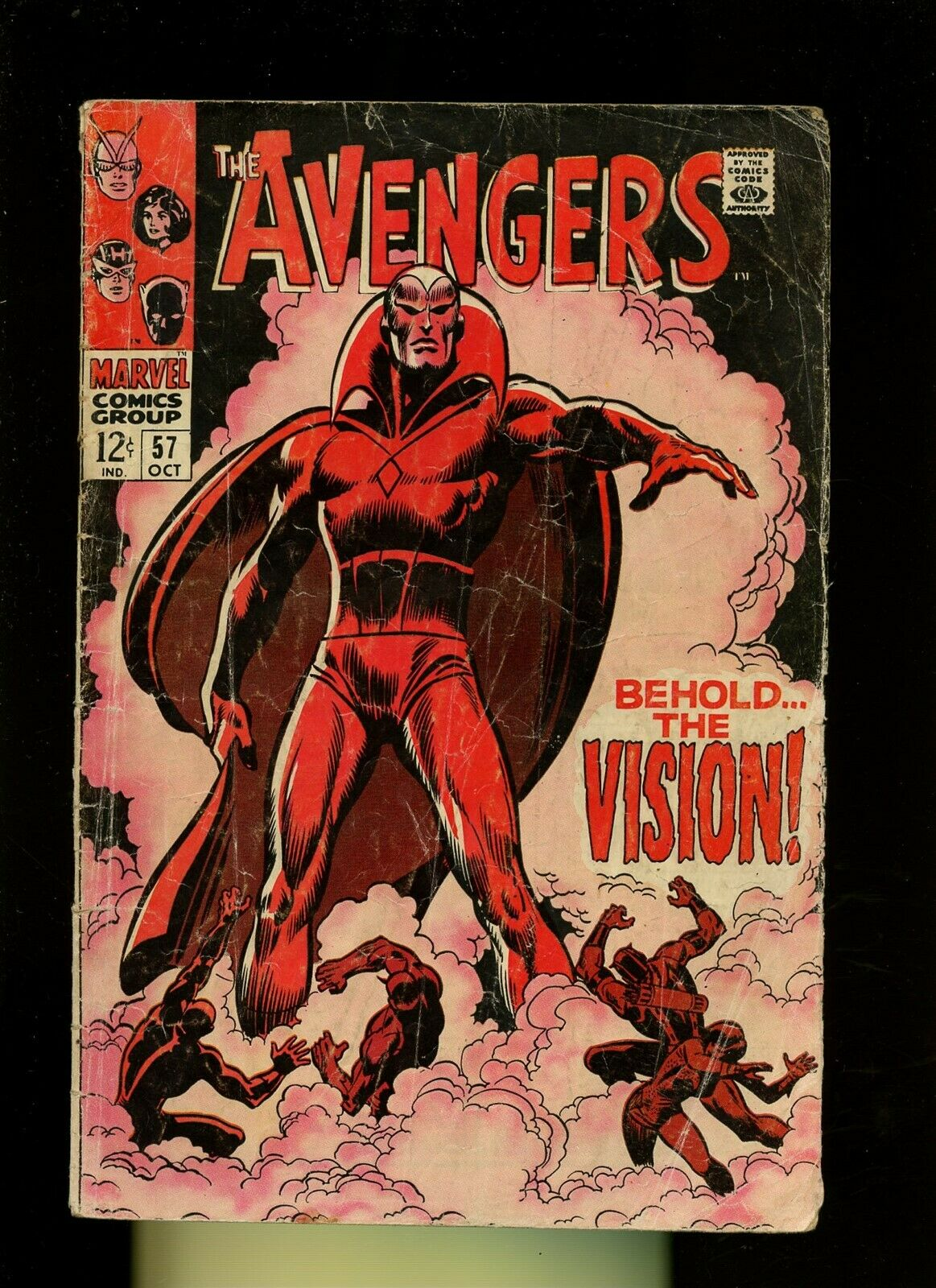 Avengers 57 GD 1.8 *1 Book Lot* Marvel The Vision 1st Appearance Thor,Captain