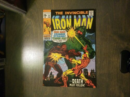 The Invincible Iron man #22 VF-NM  Marvel Comics Stan Lee (1970)