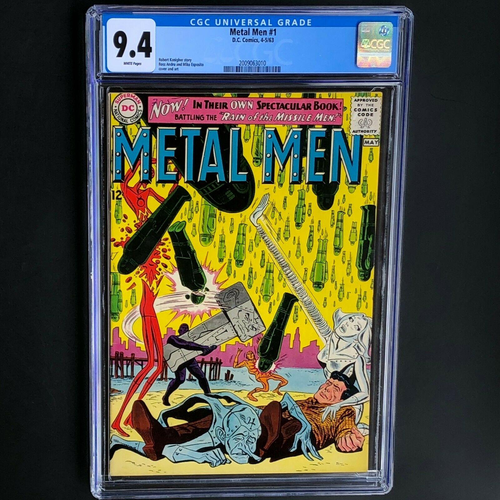 METAL MEN #1 (DC 1963) ? CGC 9.4 WHITE PGs ? ONLY 8 HIGHER