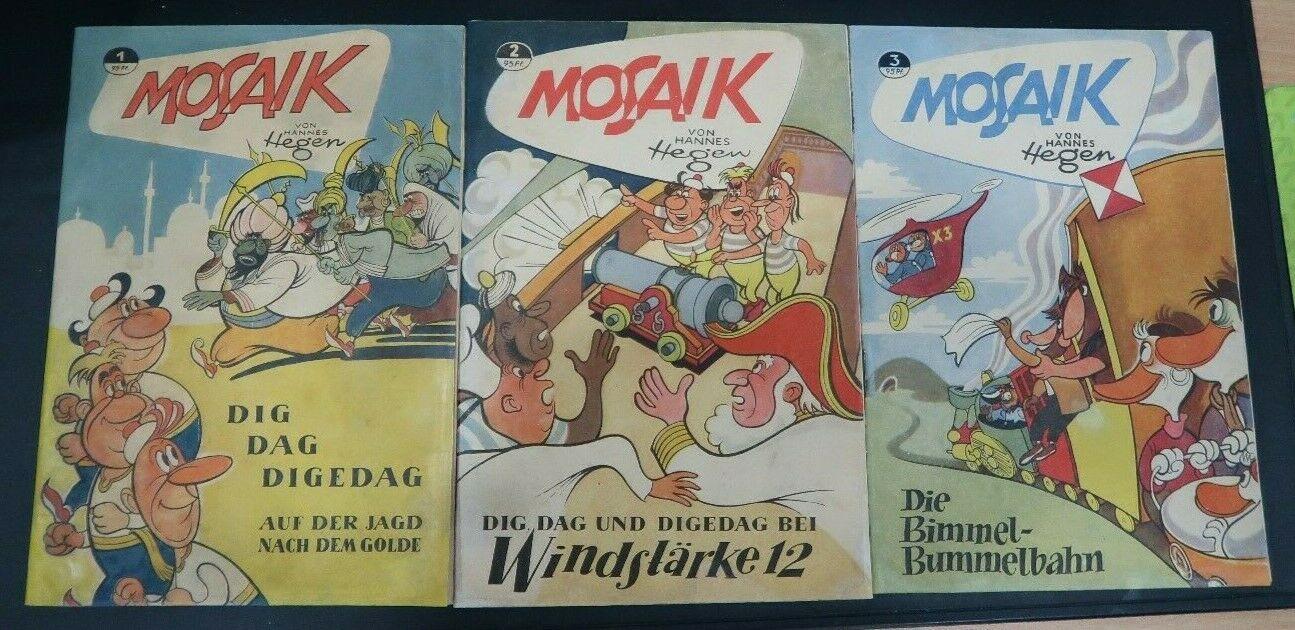 Mosaik Digedags und Abrafaxe Komplett von 1956 bis 2018