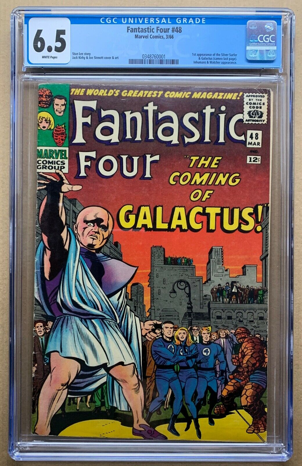 Fantastic Four #48 CGC 6.5 WHITE - First app of Silver Surfer/Galactus (cameo)