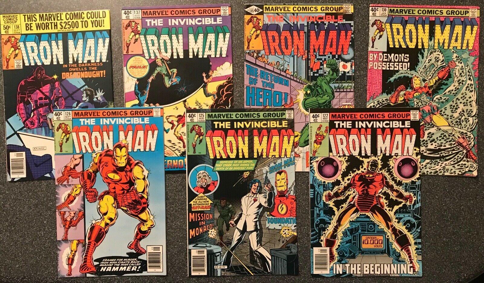 Iron Man #'s 122,125,126,130,135,137 &138 (7 Books) Marvel Comics