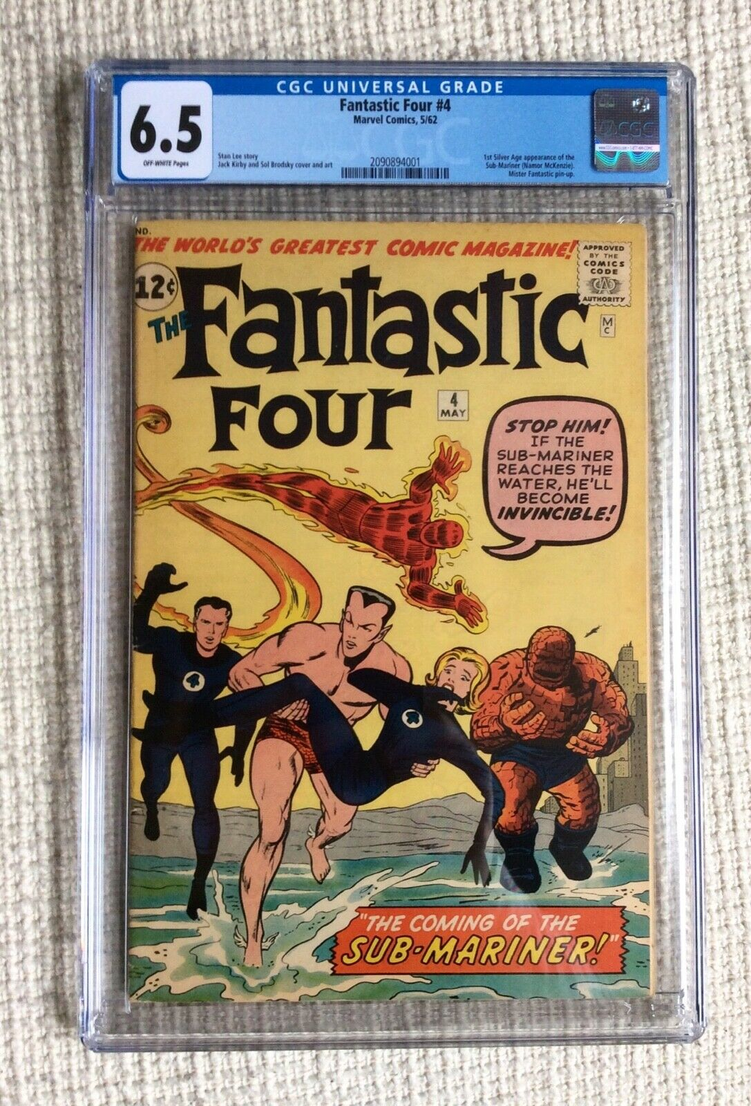 FANTASTIC FOUR # 4 CGC 6.5 1st Silver Sub-mariner 2,3,5  Stan Lee Kirby Avengers