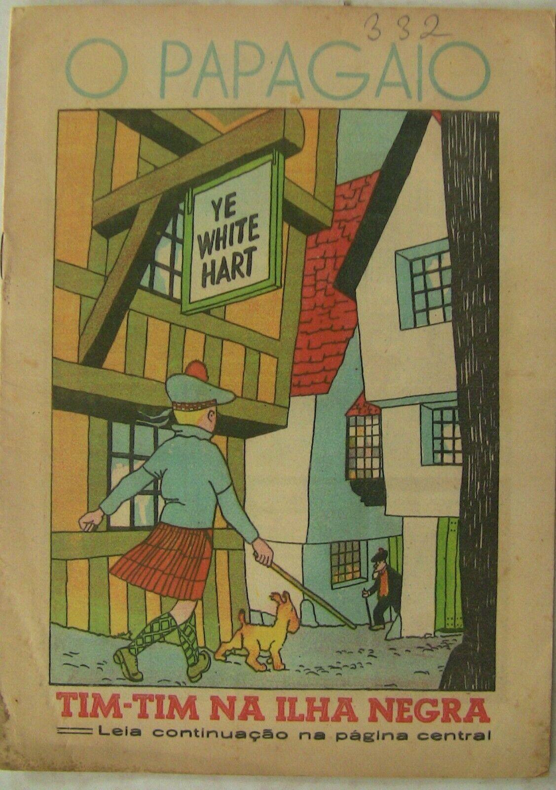 TINTIN HERGE 40 MAGAZINES O PAPAGAIO LE PETIT xxe PORTUGAIS ANNEES 1941 RARE