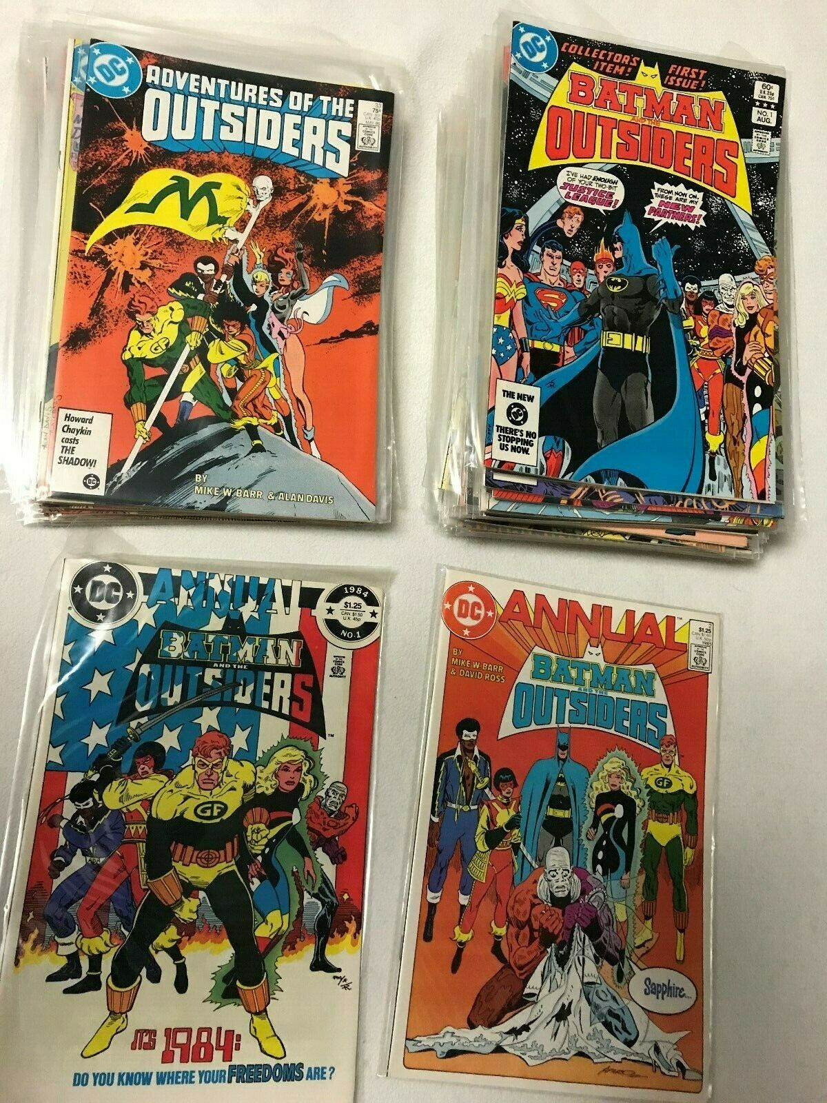 Batman and the Outsiders/Adventures of the Outsiders #1-46, Annual 1,2 (DC,1983)