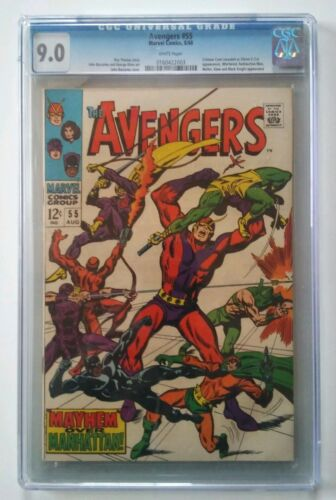 Avengers #55 9.0 CGC Marvel Silver age comic Book High Grade 1st Ultron