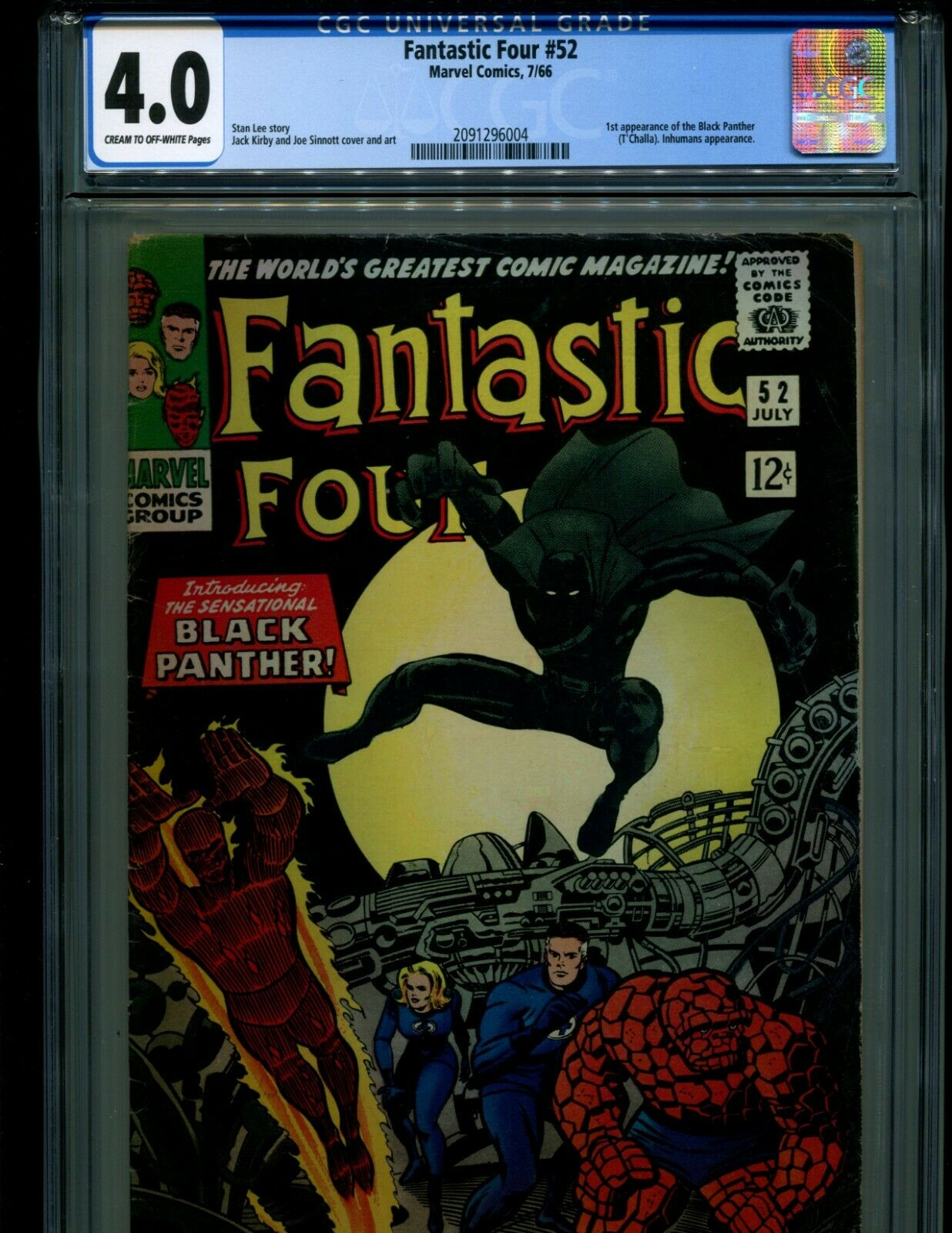 FANTASTIC FOUR 52 CGC 4.0 VOL. 1 1ST APPEARANCE OF BLACK PANTHER MOVIE COMING