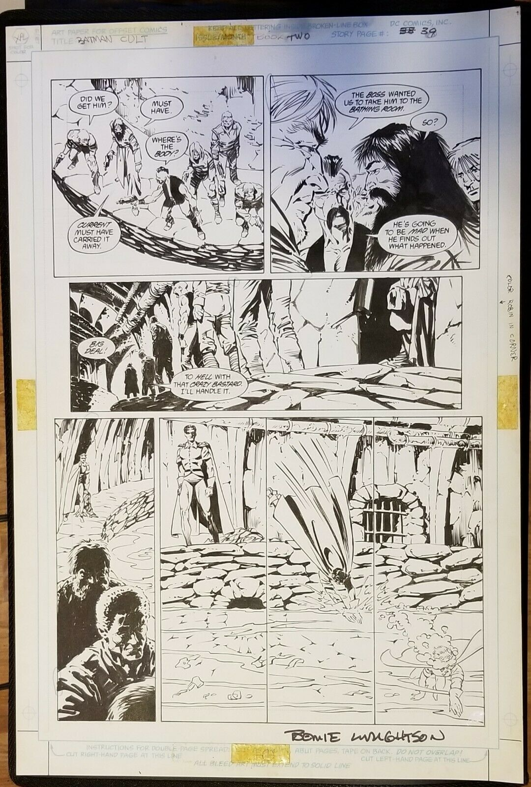Batman the CULT #2 page 39, pen & Ink. Bernie Wrightson original art.