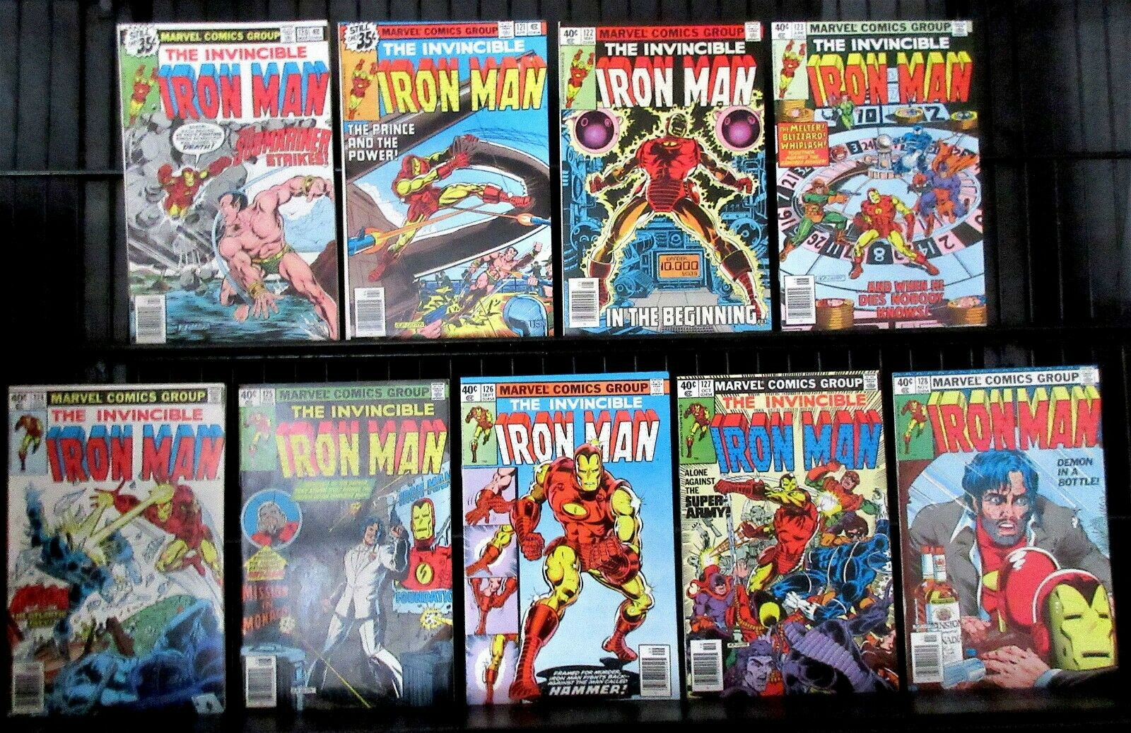 "IRON MAN (1979) #120-128 Complete Run ""Alcoholic Issues"" Solid Copies"