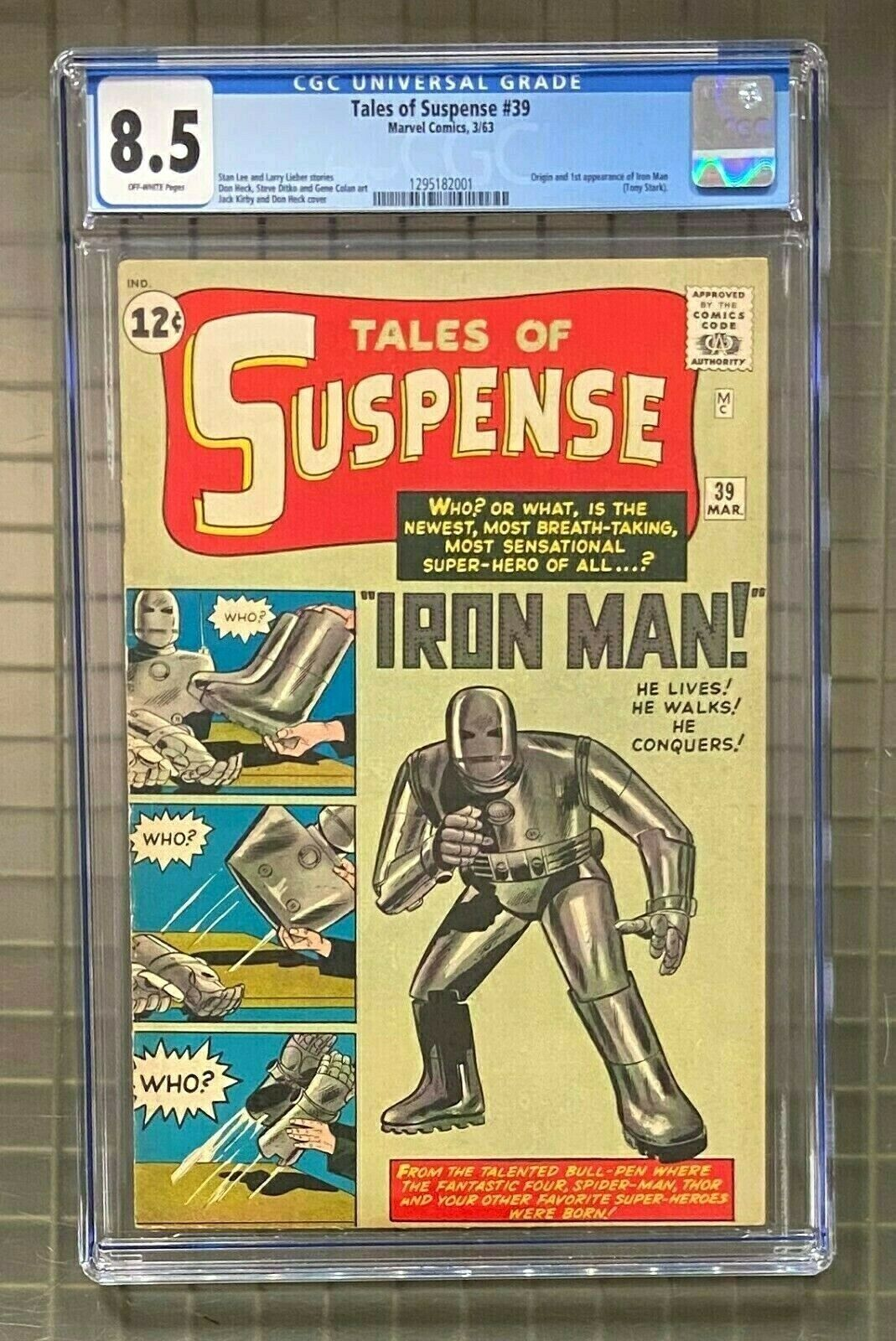 TALES OF SUSPENSE #39 Marvel Comics 1963 IRON MAN 1st Appearance CGC 8.5