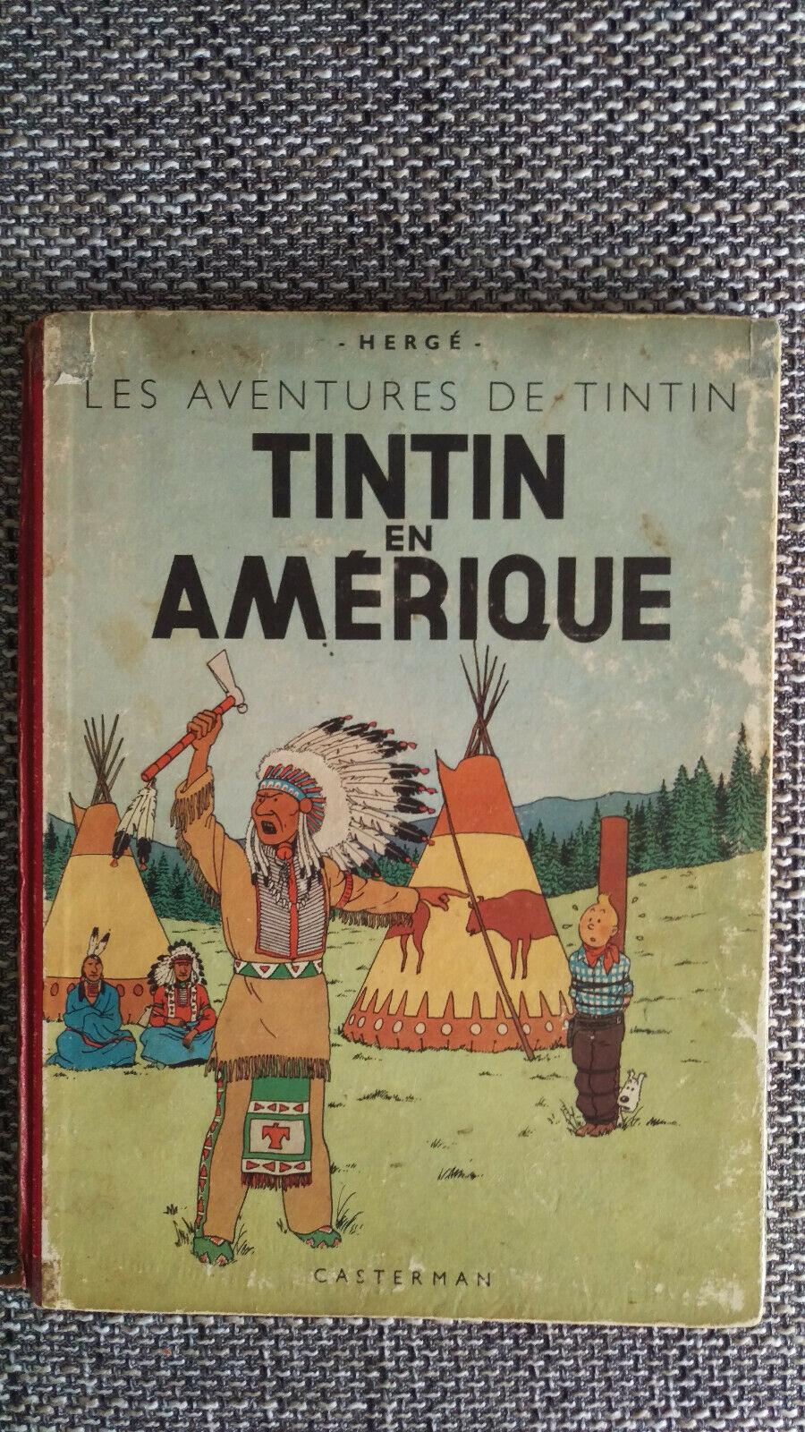 RARE TINTIN EN AMERIQUE B2  COPYRIGHT 1946