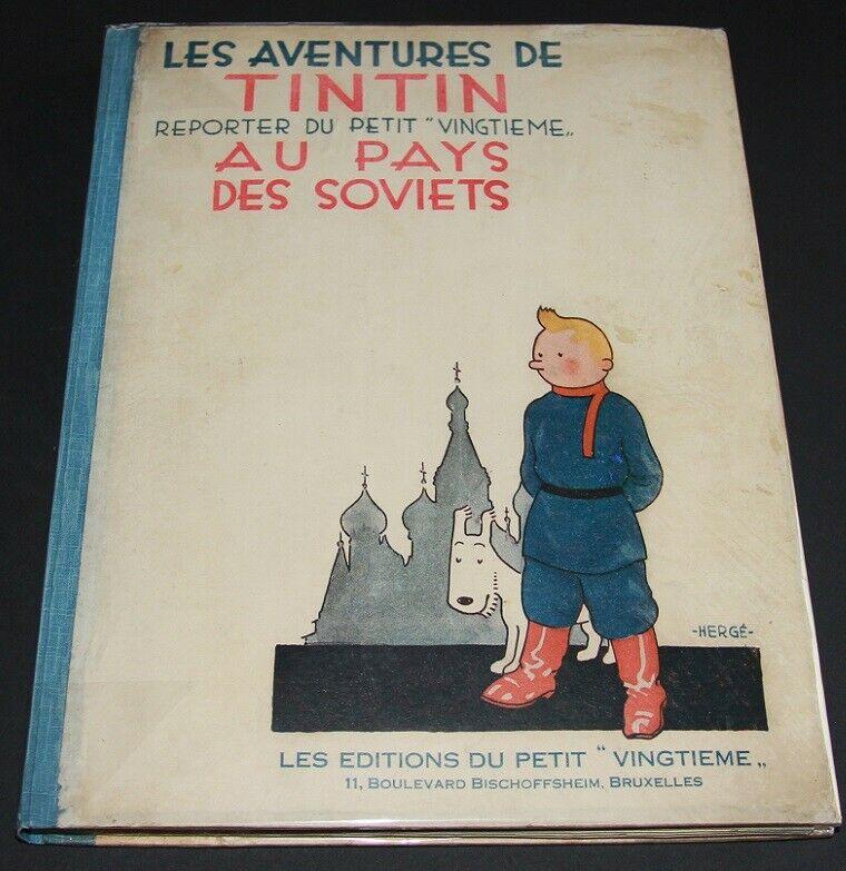 HERGÉ TINTIN AU PAYS DES SOVIETS EO Casterman 1930 premier mille non signé