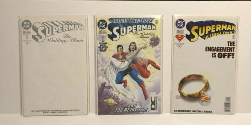 Lot Of 3 DC SUPERMAN THE WEDDING ALBUM CLARK MARRIES LOIS THE ENGAGEMENT IS OFF