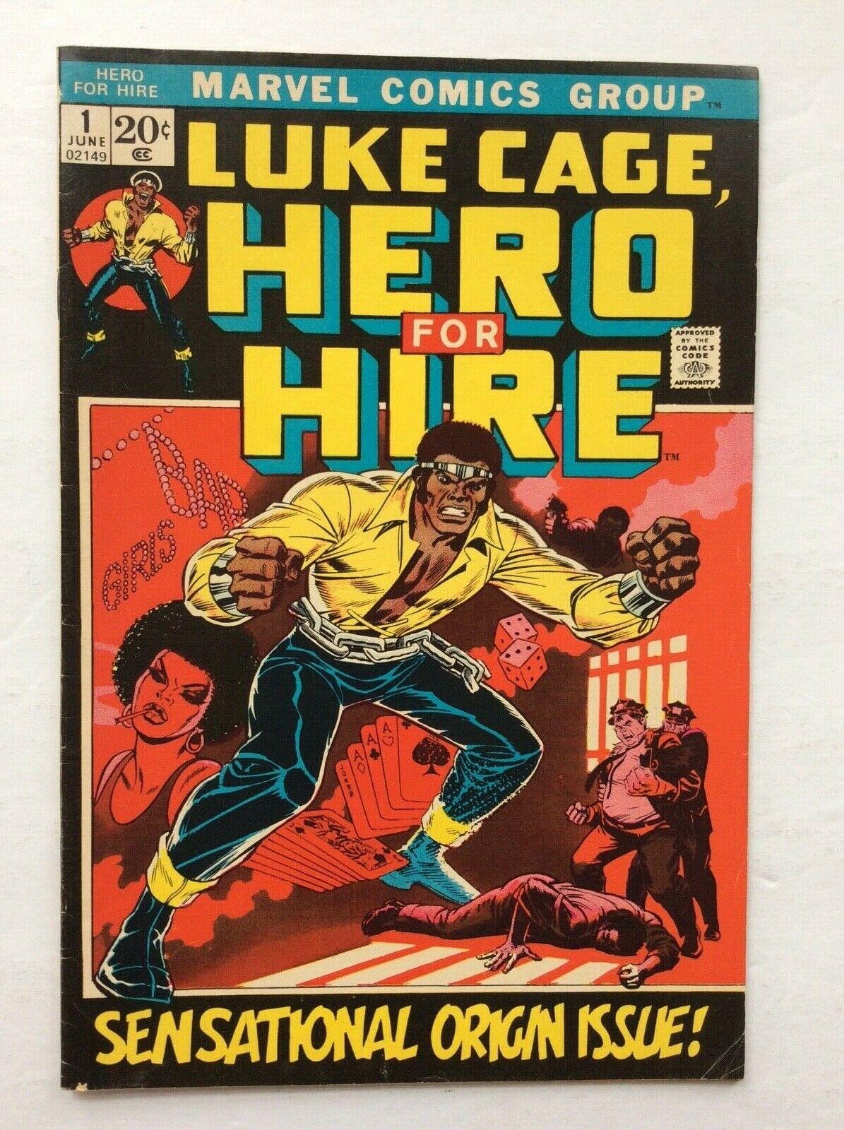 Luke Cage Hero for Hire #1 Marvel Comics 1972 Origin Issue Vintage Comic Book