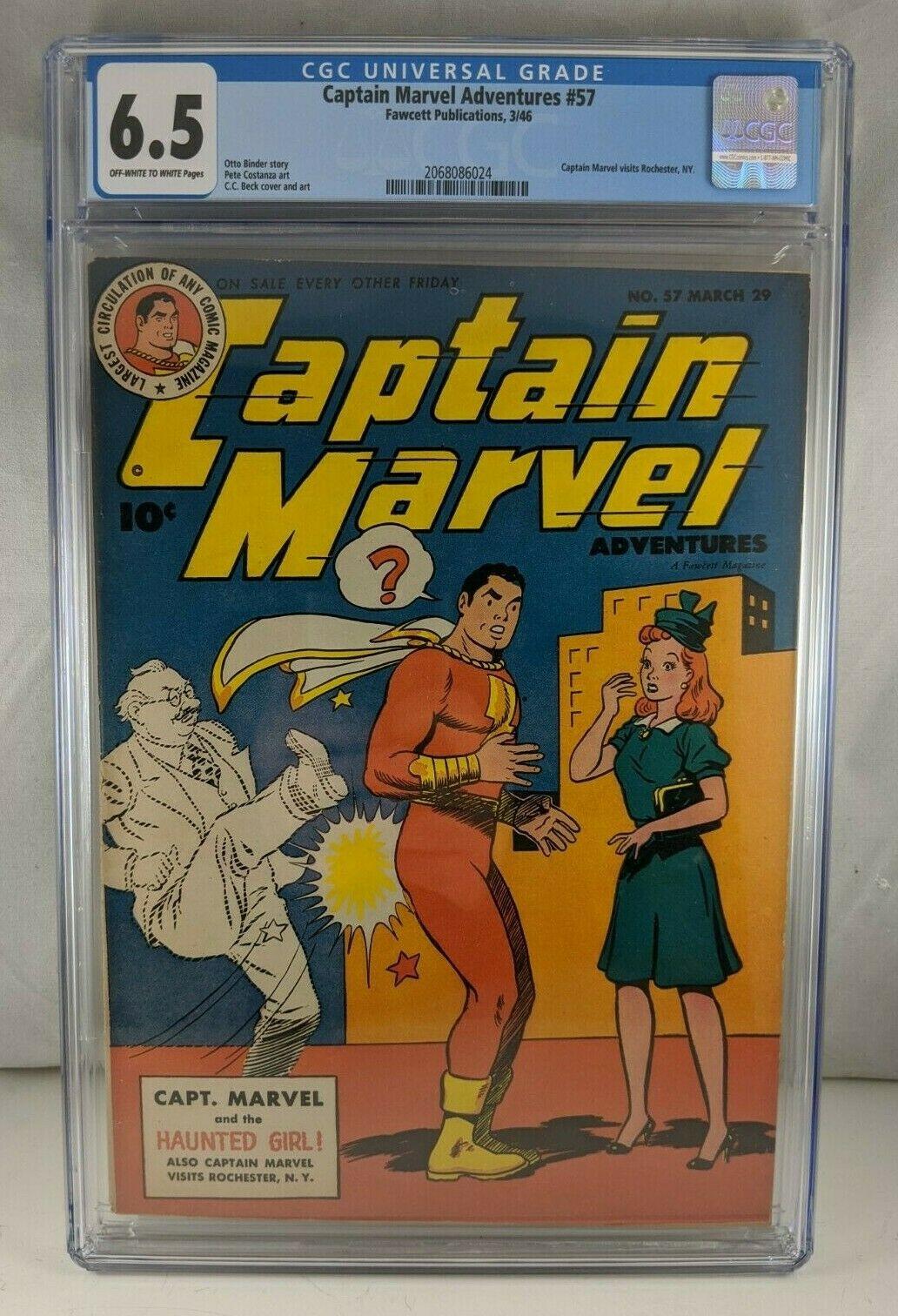 Captain Marvel Adventures #57 1946 [CGC 6.5] Golden Age Shazam Visits Rochester