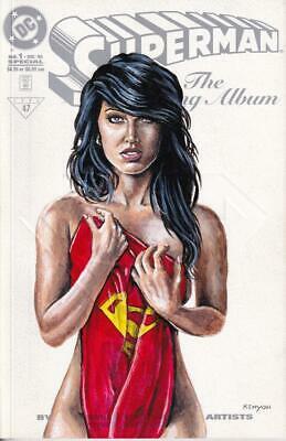 **LOIS LANE**SEXY ORIGINAL ART ON SUPERMAN THE WEDDING ALBUM BLANK  COVER*W/COA*