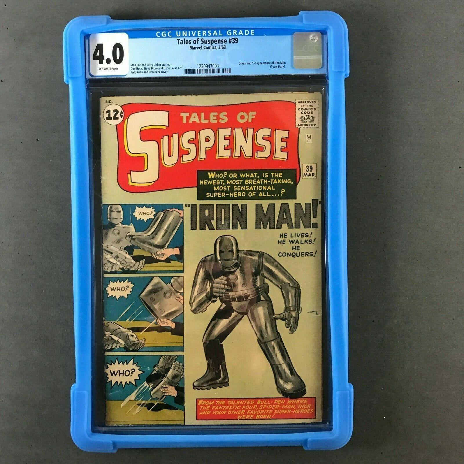Tales of Suspense #39 CGC 4.0 1st Iron Man - Key Silver Age Marvel