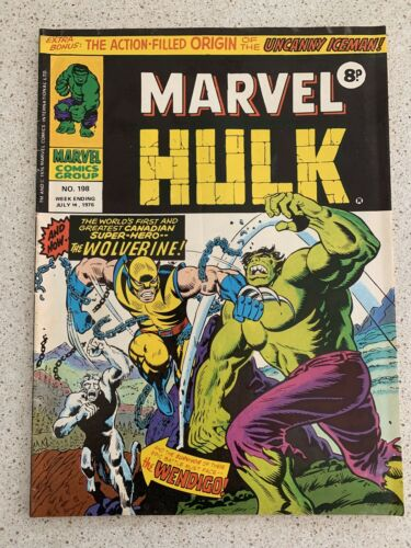 Mighty World of Marvel 198...1ST UK WOLVERINE APPEARANCE 1976 Vintage COMIC