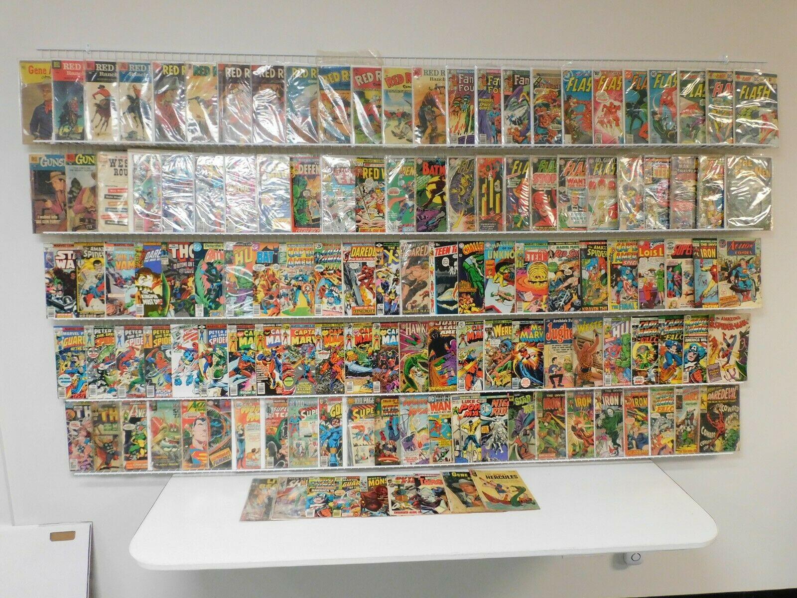 Huge Lot 120+ Silver/Bronze Comics W/Iron Man, Flash, X-Men, Red Ryder+ MORE