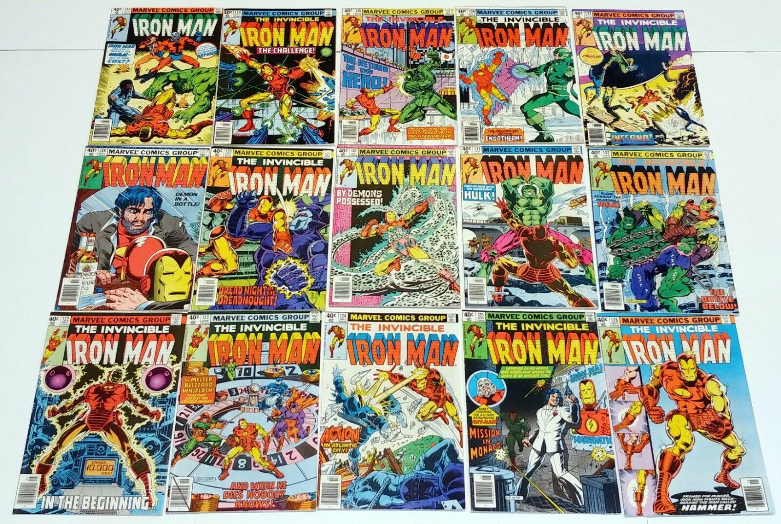 IRON MAN #122-126 #128 KEY 129 to 137 Marvel Bronze Age Comic 15pc Run Lot