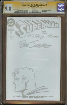 Superman: The Wedding Album #1 Coll Ed CGC 9.8 SS JURGENS w/Sketch 0900680012