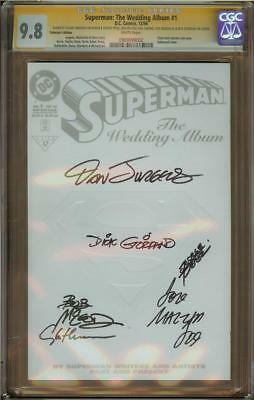 Superman: The Wedding Album #1 Coll Ed CGC 9.8 SS DICK GIORDANO + 5  #0969099002