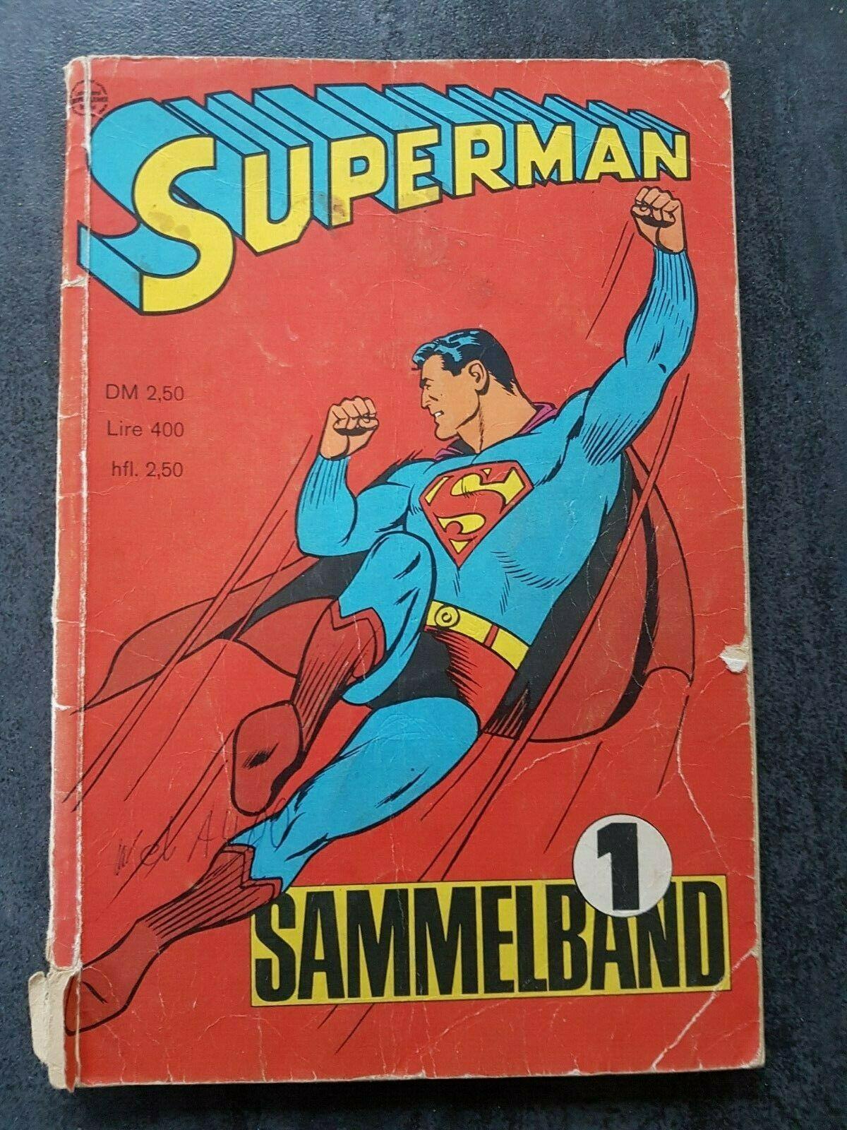 Seltener Superman Sammelband 1 mit den Heften 1, 2, 3, 4 von 1966  Comic 60er
