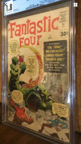 fantastic four #1 Cgc 1.8 Blue Label, Mega Key First App. Fantastic Four