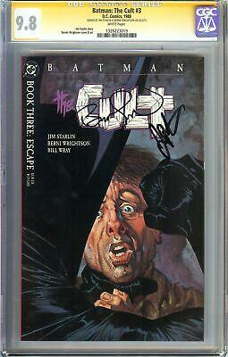 Batman: The Cult #3 CGC 9.8 SIGNED 2x JIM STARLIN & BERNIE WRIGHTSON DC Comics