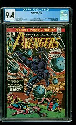 Avengers 137 CGC 9.4 NM Beast Moondragon Thor Iron Man John Romita cover Marvel
