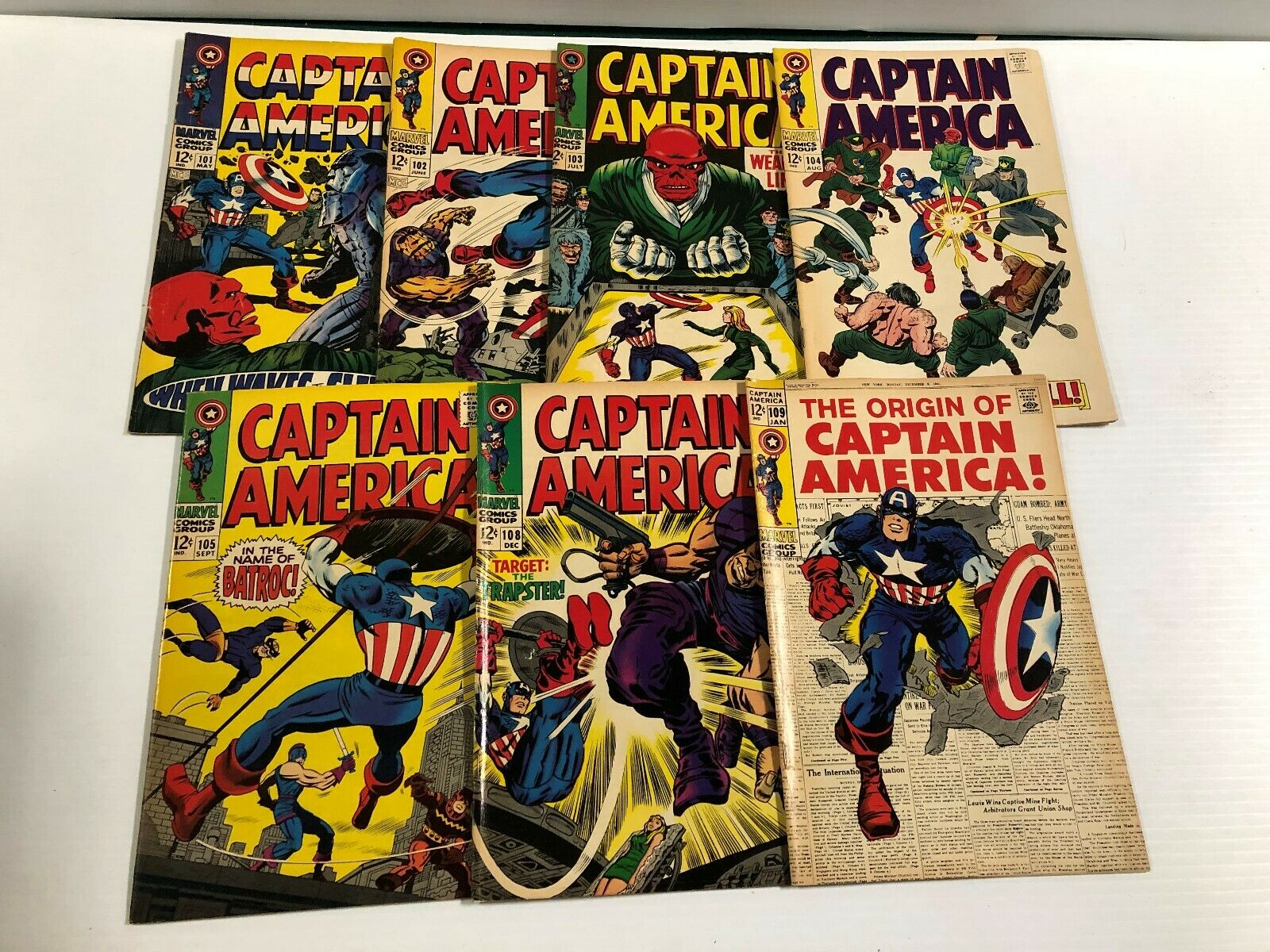 Captain America Run/Lot 101 102 103 104 105 108 109 112 113 114 115 116 118-189