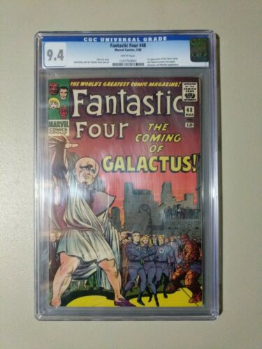 Fantastic Four #48 CGC 9.4 NM White Pages First app of Silver Surfer & Galactus