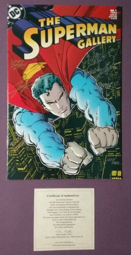 THE SUPERMAN GALLERY #1 SIGNED BY NEAL ADAMS GEORGE PEREZ CURT SWAN Jim Steranko