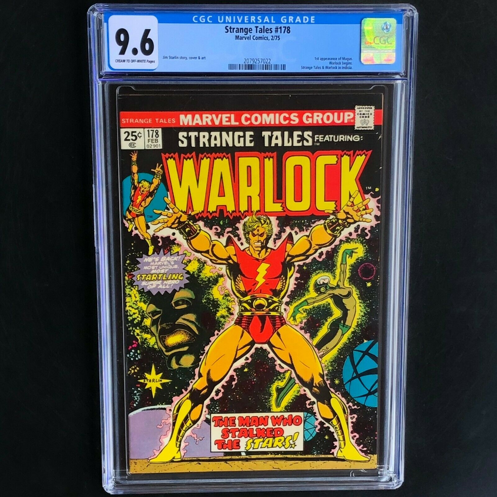 STRANGE TALES #178 ? CGC 9.6 ? 1st Appearance of MAGUS Warlock Marvel 1975