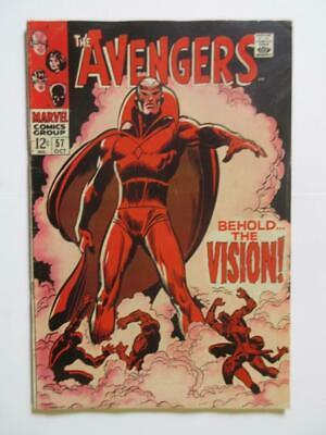 Avengers # 57 - - 1st app SA Vision Captain America Iron Man MARVEL
