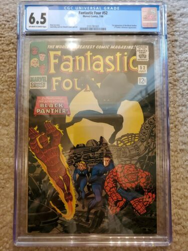Fantastic four 52 CGC 6.5 First Appearance of Black Panther Marvel MCU Avengers