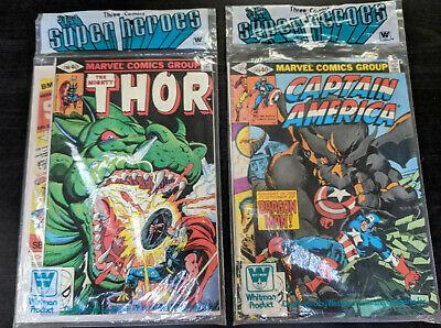 LOT 2 Marvel Comics 3 pack SEALED UNOPENED Captain America 248 Thor Iron Man 137