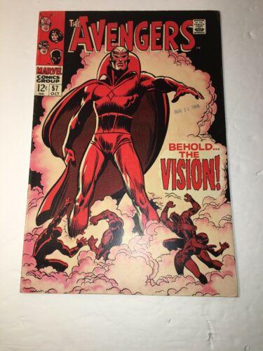 Avengers 57 RAW VF- 7.5 1st App Vision Silver Age Marvel Captain America Iron