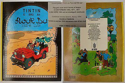 TINTIN HERGE en Breton -1994 TBE- 1500ex.- PAYS de l'OR NOIR - E BRO AN AOUR DU